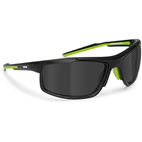 Occhiali polarizzati antiriflesso in nylon TR90 per sci nautica pesca ciclismo running - By Bertoni Italy -