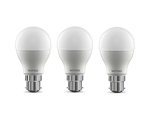 Wipro Garnet Base B22 9-Watt LED Bulb (Pack of 3, Cool Day...