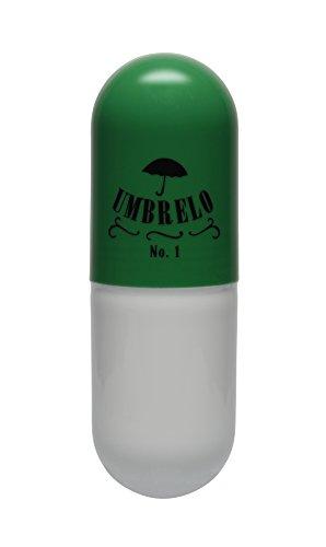 Umbrelo No.1 - Taschenschirm im Kapsel Design - super mini Regenschirm - klein, leicht und kompakt - optimaler Einsatz für die ganze Familie - grün  (Tasche Kapsel)