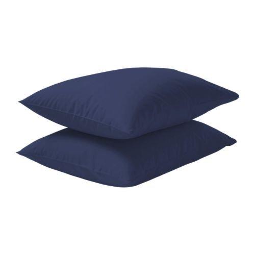 Måløv Linen Hotel Style 400Fadenzahl massives Ägyptische Baumwolle kissenrollen wählen Sie Farbe und Größe (alle Größen und Farben), Baumwolle, Marineblau, Standard Pillow Shams -