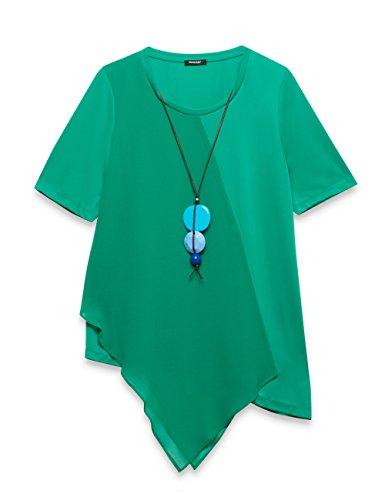 Elena mirò 31p8g349l0866x, blusa donna, verde (verde c5), 52 (taglia produttore:43)