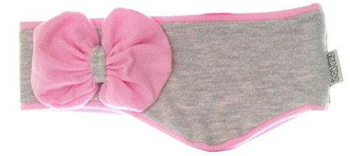 Stirnband Kinderstirnband Mädchenstirnband Babystirnband mit Ohrenverbreiterung in 4 Farben Baumwolle (48/50 L, Grau/Rosa)