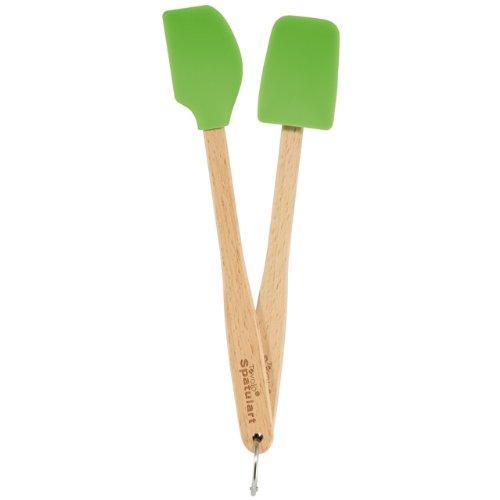 Tovolo Mini Silicone Spatula and Spoonula, Lime, Set of 2 (japan import) (Set Spoonula)
