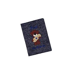♥ U-Heft Hülle mit Namen/Geburtsdatum aus Wollfilz - ''Trostpflaster Bär'' (Untersuchungsheft/Geburtsgeschenk) ♥