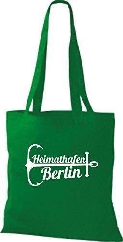 ShirtInStyle Stoffbeutel Baumwolltasche Heimathafen Berlin kelly