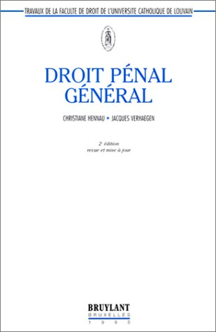Droit pénal général, 2e édition 1995 par C. Hennau