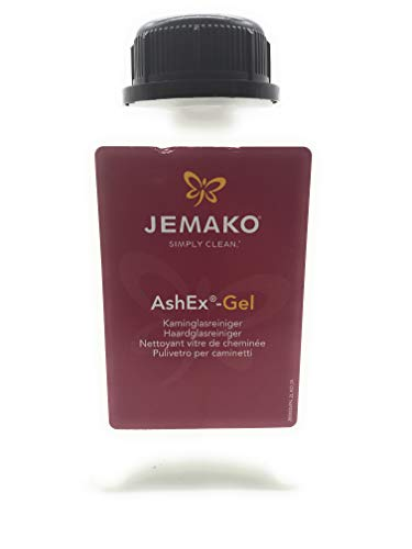 Jemako AshEx-Gel, Kaminglasreiniger, 2 Liter, Kamin, Ofen, Reiniger, 2 Stück K7plus® Wäschenetz/Wäschesack