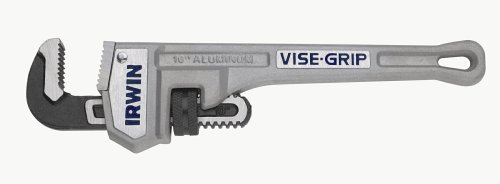 IRWIN VISE-GRIP Tools Cast Aluminum Pipe Wrench, 1-1/2-Inch Jaw Capacity, 10-Inch (2074110) by Irwin Tools