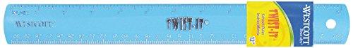 Westcott E-10119 00 Righello flessibile Twist It in vari colori con scala in cm e pollici