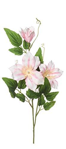 artfleur – 3er Set künstliche Clematis Waldrebe rosa ca. 55 cm Kunstblume Stielblume