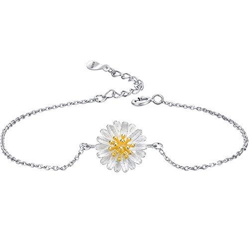 YWJHY Armreifen Armbänder Für Frauen Kleine Daisy Besteck Liebe Im Herzen Versteckt Jemanden, Den Sie Lieben,Armband,Einheitsgröße