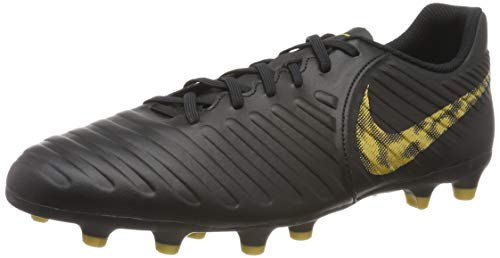 Nike Herren Legend 7 Club FG Fußballschuhe, Schwarz (Black/MTLC Vivid Gold 077), 45 1/3 EU