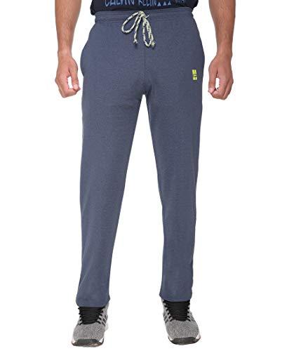 DFH Men's Cotton Track Pants (Blue, Small)