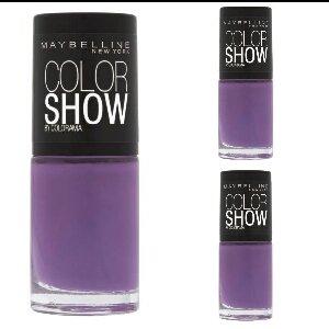 NEW Nail Art Coffret de vernis à ongles 3 x Maybelline Color Show Lavender Lies Violet pour ongles Design, rose, accessoires manucure