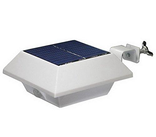 Cyberdax Solar-Lampe, intelligent, 6LED, solarbetrieben, mit Sensor, für Zaun, Regenrinne, Dachkante, Absperrungen