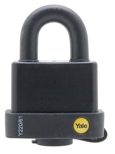 Yale Locks YALY22061 - Candado acero, 61 mm, resistente a la intemperie