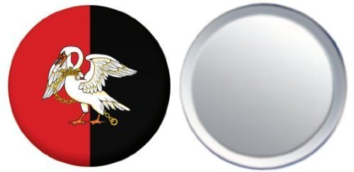 Miroir insigne de bouton Angleterre Buckinghamshire drapeau - 58mm