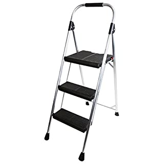 Abru 22402 3 Step Aluminium Stepstool, Heavy Duty 150kg Load Capacity, 5 Year Guarantee
