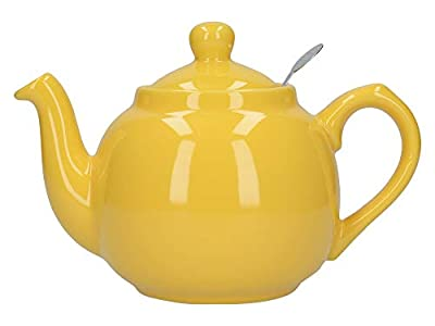 Dexam London Pottery Farmhouse Théière à filtre pour 2 tasses, jaune citron