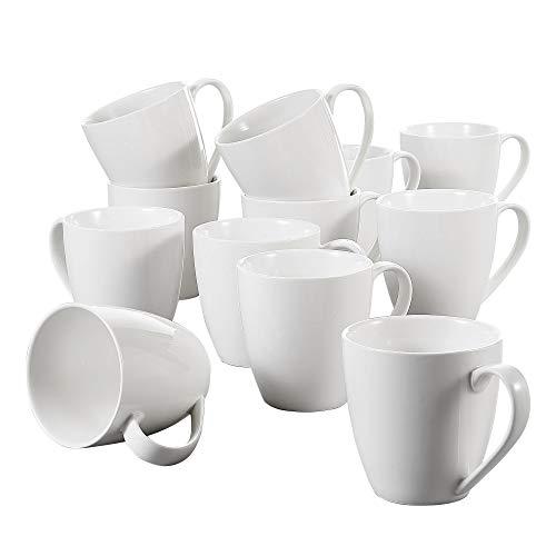 vancasso Kaffeebecher, Porzellan, 370 ml, 12-teilig Kaffeetassen Set, »Yolanda«