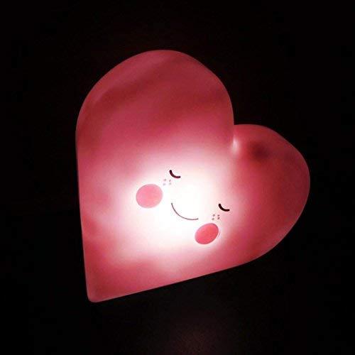 ALIKEEY❤️Jouet de lumière de nuit LED en vinyle en forme de coeur pour bébé enfants chambre décoration lampe de chambre de bébé veilleuse allaitement veilleuse tactile veilleuse prise electrique veilleuse bebe veilleuse anti moustique veilleuse nomade Love night light (Rose)