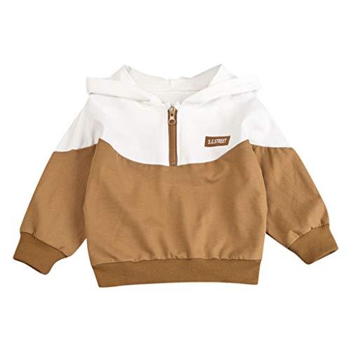 Kostüm Freunde Passende Zwei - Baby Jungen Kapuzenpullover Dasongff Niedlich Sweater Zip Hoodie Pullover Patchwork Kontrast Sweatjacke 1-3 Jahre