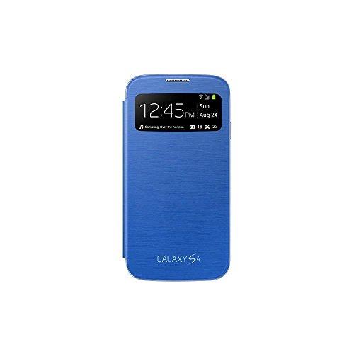 Samsung S-View - Funda para móvil Galaxy S4 (Pantalla frontal, teclas laterales para activar la pantalla), color azul