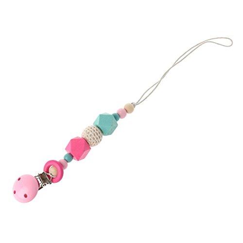 lip Baby Schnuller Clips Silikon Beißring Schnuller Kette Halter Kautabletten Perlen Kinderkrankheiten Spielzeug Kinderkrankheiten Relief Schmerzen Dusche Geschenk (Pink) ()