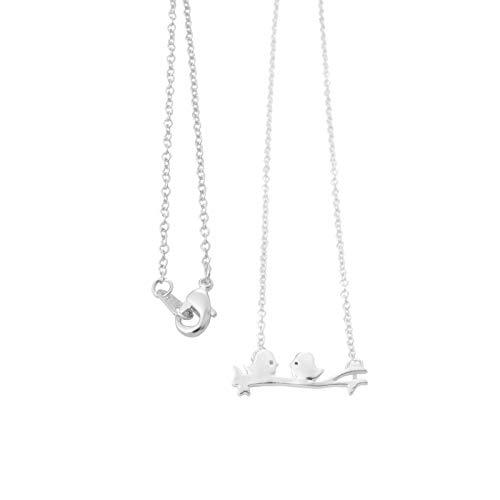 GRHY Filiale Vogel Anhänger Schlüsselbein Kette Halskette Schmuck Geschenke für Mädchen, Silber