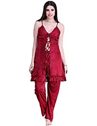 Miss Pixy Women`s Nighty Free Size Poly Satin Casual Sleepwear fab3d8c55