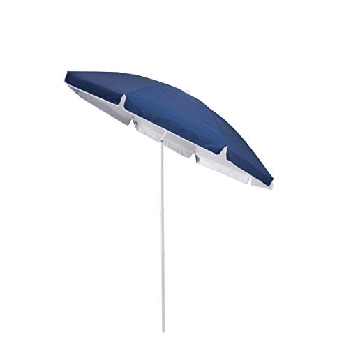 Duhome Sonnenschirm Strandschirm Polyester Blau höhenverstellbar neigbar Gartenschirm...