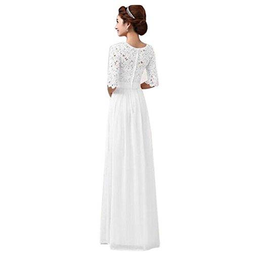 Kleider Damen Sunday Frauen Spitze Chiffon Kleid Abendkleid Damen Röcke Sommerkleid Stretch High...