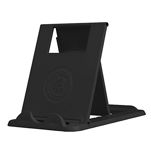 "Fintie Universal Tablet Cell Phone Stand - [Foldable] Multi Angle Portable Desktop Holder for 4""-10"" Smartphones and Tablets, iPad Pro 10.5, iPad 9.7, iPad Mini, Galaxy Tab, iPhone 7 Plus, Samsung S8 and more, Black"