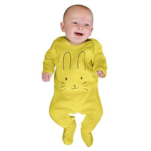 WFRAU Baby Strampler Mädchen Jungen Halloween Lange Ärmel Karikatur Hase Drucken Süß Overalls Schlafanzug Säugling Spielanzug Baby-Nachtwäsche Hosen Tops Jumpsuit Outfit Bodysuit