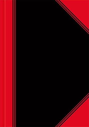 LANDRE 100302817 China-Kladde 6 Stück A5 kariert 60 g/m² holzfrei 96 Blatt Notiz-Buch schwarz/rot für die Schule das Studium oder als vorläufiges Geschäftsbuch