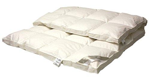 Betten Hofmann Premium 8 cm Winter Hochsteg Daunendecke Daunenbett 4x6 mit Aussensteg 135x200cm