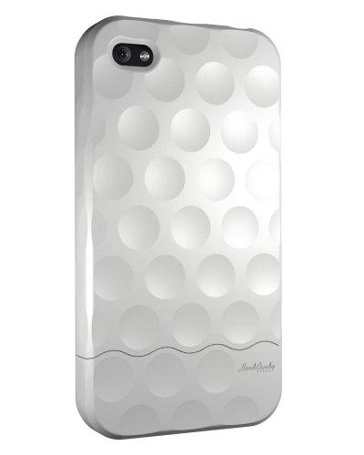 HardCandy Bubble Slider Soft Touch Coque pour iPhone 4 Rouge Blanc