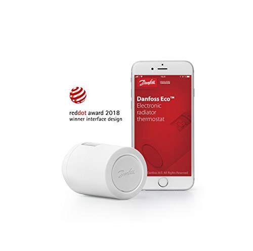 Danfoss 014G1104Thermostat Elektronisch für Heizkörper, programmierbar mit Kommunikation Wireless, 3V, weiß