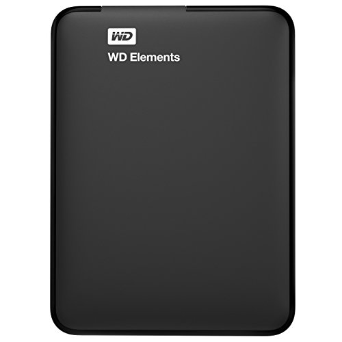 WD Elements - Disco duro externo portátil de 2 TB con USB 3.0, color negro + WD Grip Pack - Funda de disco duro para My Passport Ultra (incluye cable USB 3.0), cielo