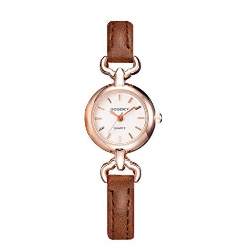 REALIKE Damenuhr Armbanduhren Freizeit Nummer Round Keine Nummer Lederband Quarzuhr Uhren Kreative Uhr Europa und Amerika Ultradünn Britische Artart und Weise Neue High End Geschäftsuhr Business