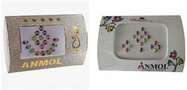 Anmol bollywood style Oval bindi combo (Pack of 2)