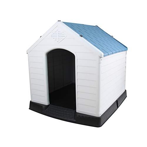 ZALIANG Suave y Confortable Casa de Mascotas al Aire Libre Perrera de plástico Impermeable Desmontable y Lavable casa de Mascotas Animal Escondido cobertizo para Gatos