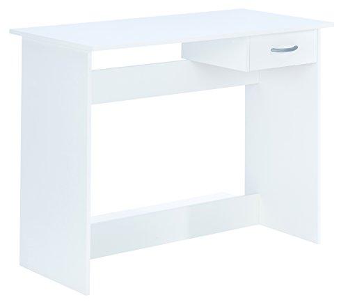 Demeyere 828 Schreibtisch Junior mit 1 Schublade ALPIN, 100,6 x 76,5 x 50,1 cm, perle weiß
