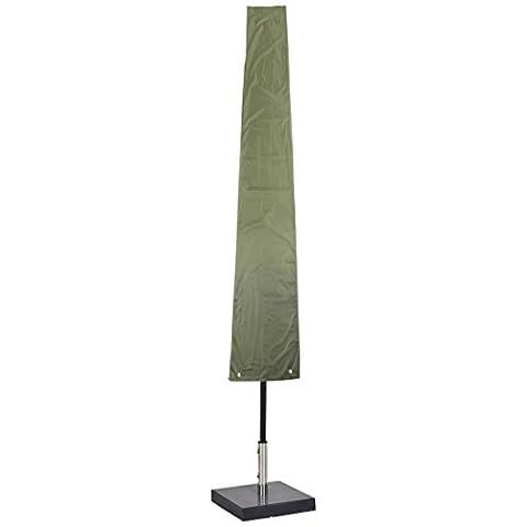 Ultranatura Schutzhülle für Sonnenschirm, wasserdichte Universal-Hülle für Standschirm und Sonnenschirm – wetterfeste Abdeckung für Gartenschirme mit bis zu 4 m aufgeklapptem