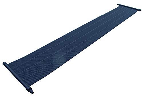 Placas calefactoras para piscina de well2wellness, calefacción solar para piscina, 6,0x 0,6m, 3 vías, con accesorios