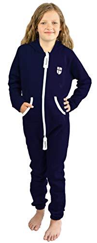 Gennadi Hoppe Kinder Jumpsuit Overall Jogger Trainingsanzug Mädchen Anzug Jungen Onesie,blau,7-8 Jahre