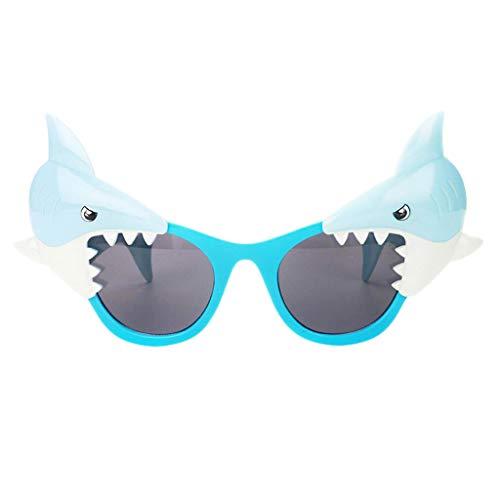 P PRETTYIA Erwachsene Kinder Partybrille Spassbrille Karnevalsbrille Halloween Kostüm Requisiten - Hai