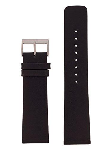 Skagen Uhrband Wechselarmband LB-958XLSLB Original Ersatzband 958XLSLB Uhrenarmband Leder 22 mm Schw