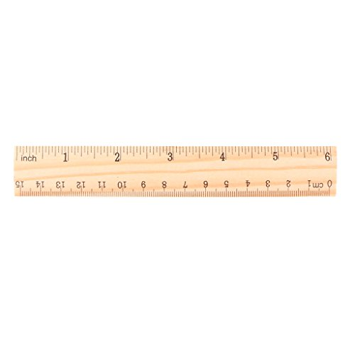 Wooden Ruler 15cm 20cm 30cm Wooden Ruler Double Sided Student School Office Measuring Tool