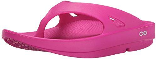 OOFOS Damen Ooriginal Thong Athletic Sandalen Fuchsie, 41 EU (Pink Thong Sandalen)